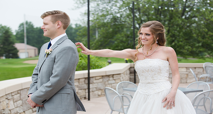 First Look Grand Rapids Wedding