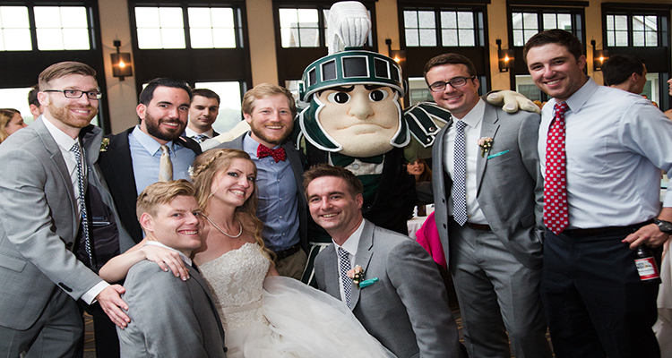 Sparty at Grand Rapids Wedding