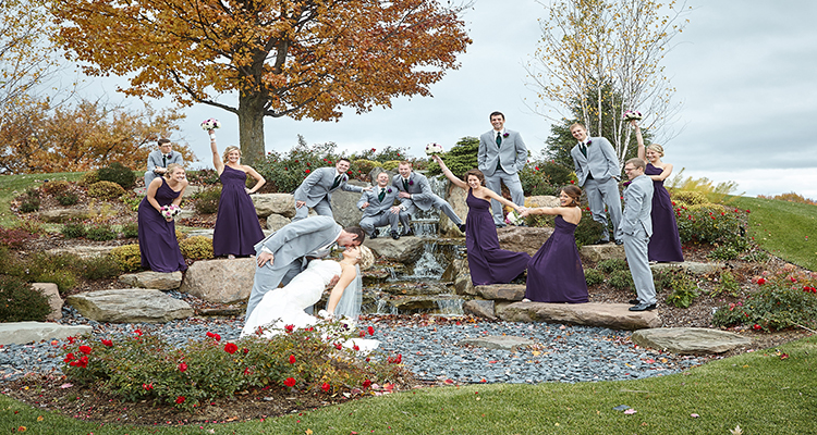 Wedding Party Outdoor Grand Rapids